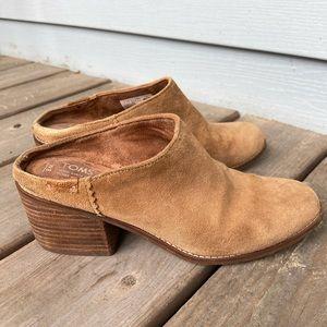 Toms Lila, suede/leather mule clogs